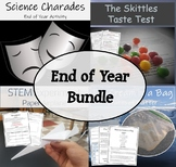 End of School Year Bundle (Fun Activities) Charades, Ice Cream in a Bag, etc.