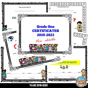 End of Year Certificates - First Grade (Print and Write)