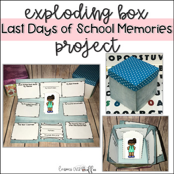 End of School Year Activity - Exploding Memory Box