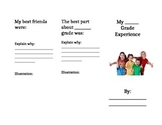 End of School Year Foldable