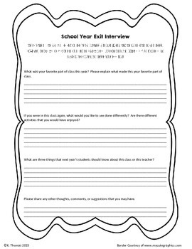 End of School Year Interview