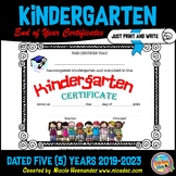 End of Year Certificates - Kindergarten