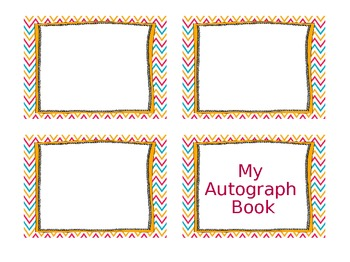 Chevron End of School Year Last Day Autograph Book