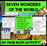 End of Year Seven Wonders Vacation Math Activity