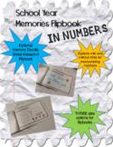 End of School Year Memories Flip book IN NUMBERS