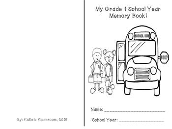 End of School Year Memory Book