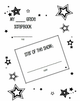 End of School Year Memory Book for Grades 3 to 6