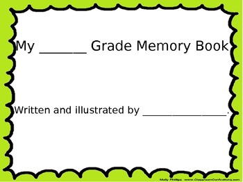 End of School Year Memory Book w/ Compare & Contrast