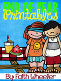 End of School Year Printables