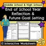 End of School Year Reflection Pages and Goal Setting for Summer and Next Year