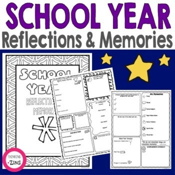 End of Year School Reflections and Memories Think Book Student Journal