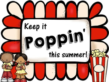 End of School Year Student Treat Tag- Keep it Poppin'