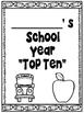 End of School Year Top Ten Activity Book