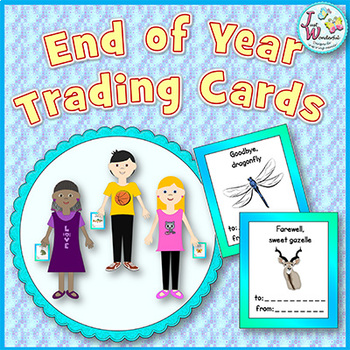 End of the School Year Activiy Trading Cards