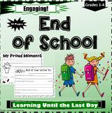 End of School Year Worksheets