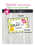 End of School Year gift tags-Have a Blast This Summer
