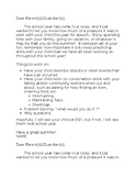 End of School Year- letters home to parents
