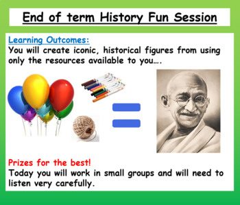 End of Semester History Lesson / History Project