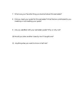 End of Semester Survey