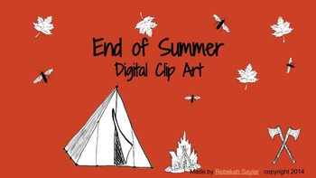 Camping Digital Clip Art