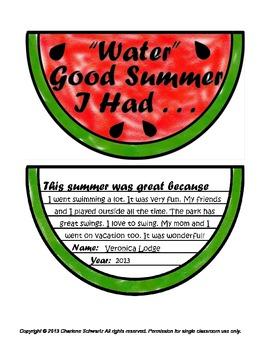 End of Summer Memories - Water Good Summer I Had