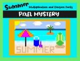 End of Summer Multiplication & Division DIGITAL Pixel Art Bundle