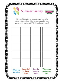 End of Summer Survey