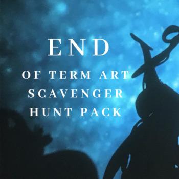 End of Term Arts Scavenger Hunt Pack!