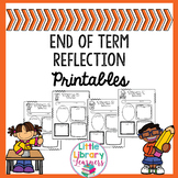 End of Term Reflection Printables FREEBIE