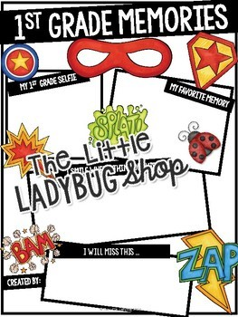 Superhero End of The Year Activities 1st Grade Memory Book