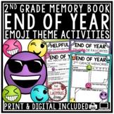 Digital Emoji Theme End of Year Memory Book 2nd Grade Writing Activities