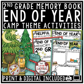 Camping Theme End of The Year Activities 2nd Grade - Memory Book