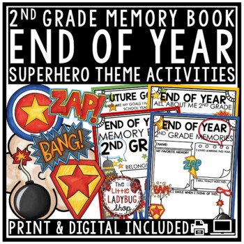 Superhero End of The Year Activities 2nd Grade Memory Book