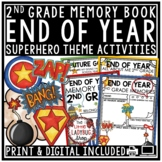 Superhero End of The Year Activities 2nd Grade End of The Year Memory Book