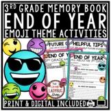 Digital Emoji Theme End of Year Memory Book 3rd Grade Writing Activities
