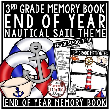 Nautical End of The Year Activities 3rd Grade - Memory Book