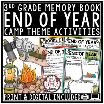 Camping Theme- End of The Year Activities 3rd Grade Memory Book