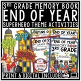 Superhero End of The Year Activities 3rd Grade Memory Book