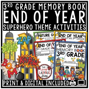 Superhero End of The Year Activities 3rd Grade Memory Book