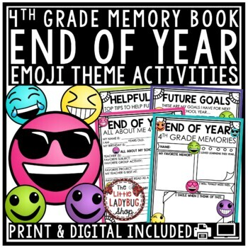 Emoji End of The Year Activities 4th Grade Memory Book