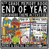 Superhero End of The Year Activities 4th Grade Memory Book