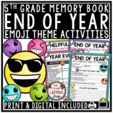 Digital Emoji Theme End of Year Memory Book 5th Grade Writing Activities