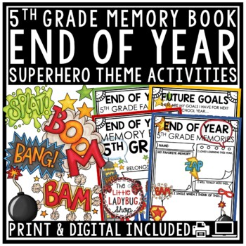 Nautical End of The Year Activities 5th Grade -Memory Book