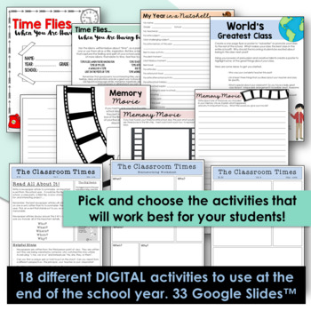 End of The Year Activities - Middle / High School - Google Drive / Classroom