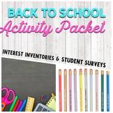 Back To School Activities/Packet