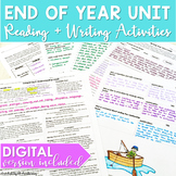 End of Year Reading & Writing Activities for Middle School