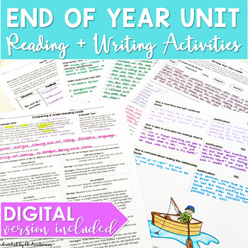 End of The Year Activities & Unit for Middle School