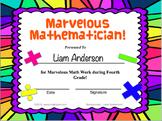 Editable Classroom Awards (Purple Multi-Color Background)