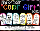 "End of The Year ""Color Gift"" Tags"