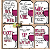 End of The Year Gift Tags (Wine)